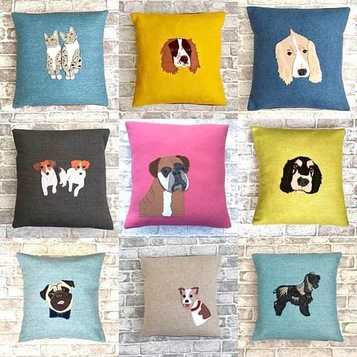 Dune Chick Pet Portrait Cushions